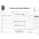 Swimming Diving Scoresheets (pads of 100)