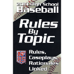 2014 Baseball Rules By Topic