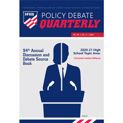 2020 Policy Debate Quarterly Volume 94, Number 4